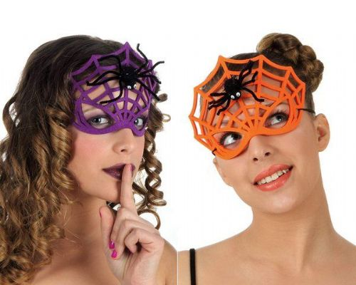 Mask Spider web with the spider Halloween Bug Trick Or Treat